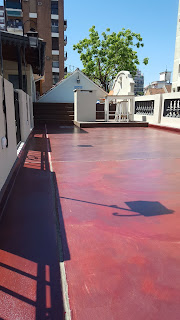 Roof terrace floor