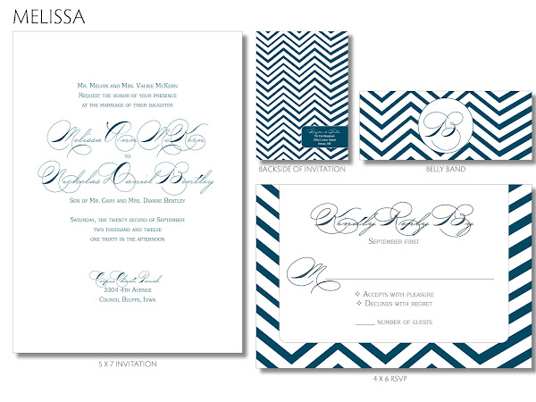 { Melissa - Chevron Wedding Invitation }