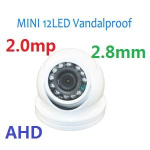 mini telecamera ahd dome 2.0mp