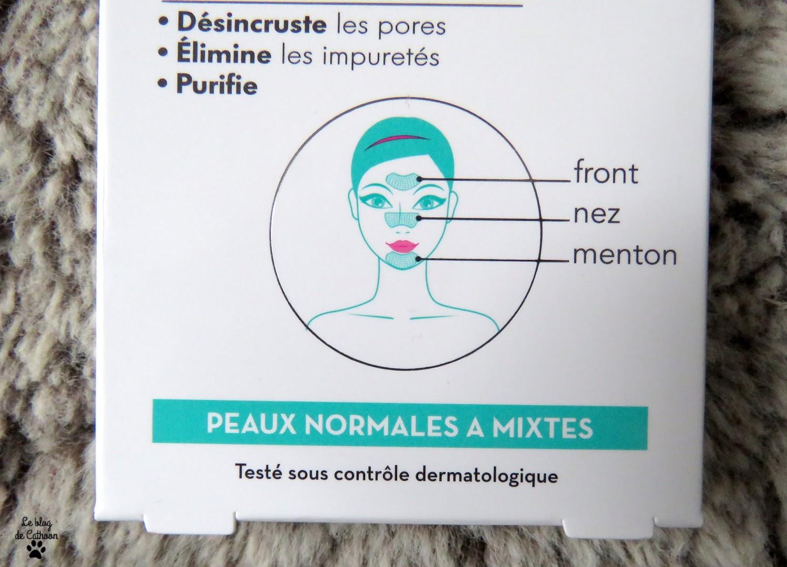Patchs Purifiants Peau Nette Front / Nez / Menton Inell marque Leclerc
