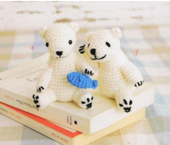 Белые медведи амигуруми схема крючком