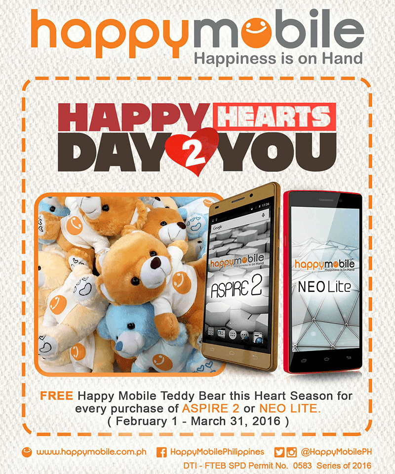 Aspire 2 and Neo Lite with FREE Happy Mobile Teddy Bear