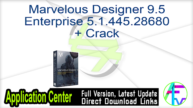 Marvelous Designer 9.5 Enterprise 5.1.445.28680 + Crack