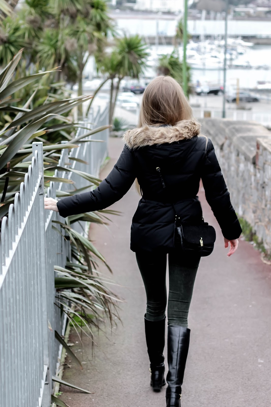Travel Blogger Walking Through Torquay Exploring