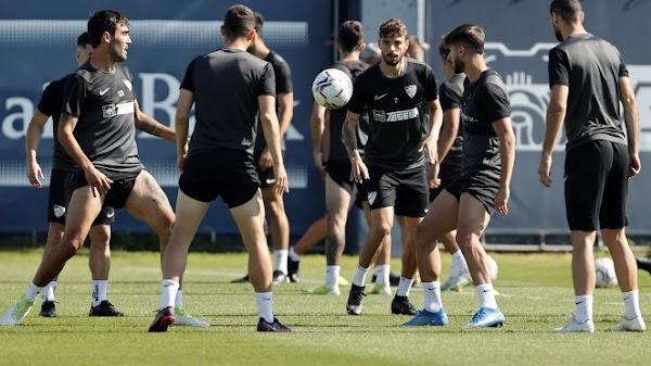 Málaga, once canteranos en el entrenamiento de hoy