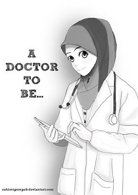 kehidupan dokter muslimah wanita cantik