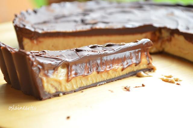 Torta de Chocolate e Manteiga de Amendoim