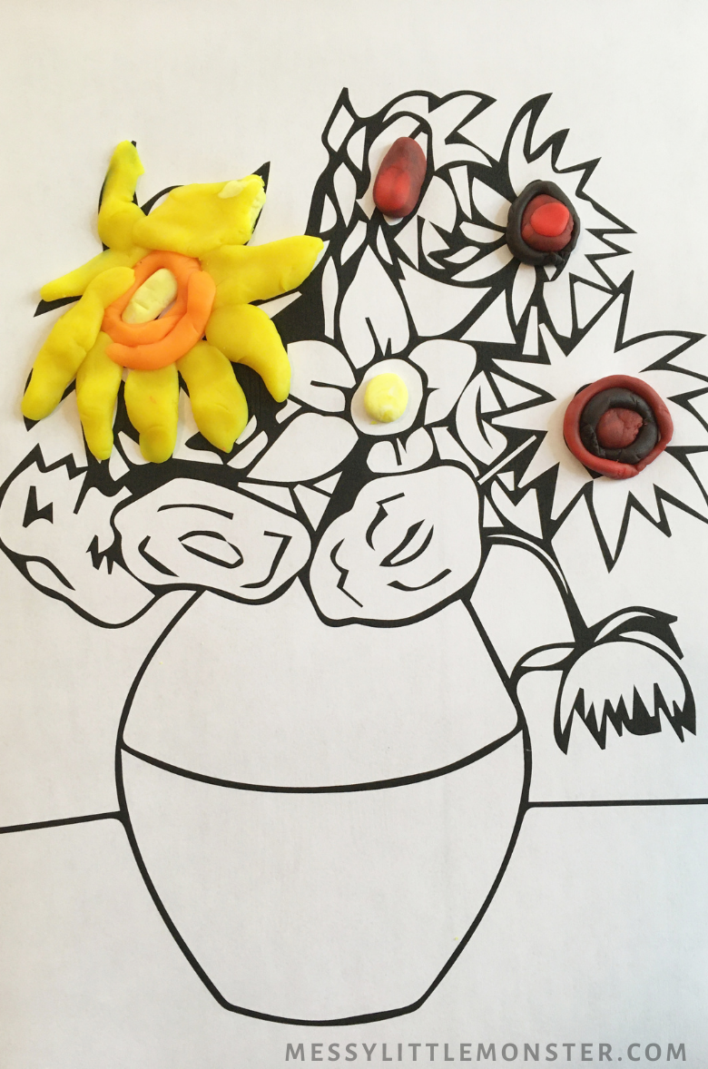 Van Gogh sunflower art for kids