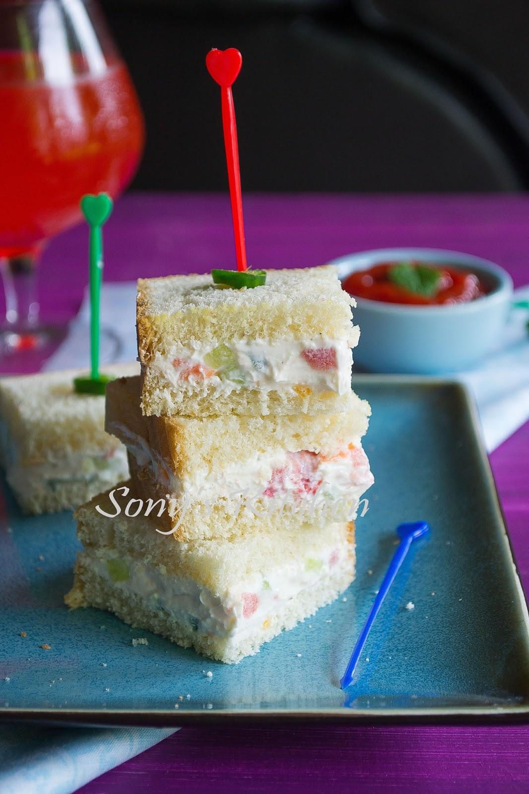 Sony's Kitchen: Cream Cheese Sandwich Bites / Easy ...