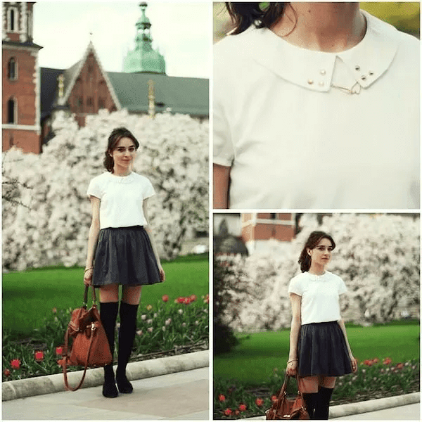 Beautiful summer fashion street coordination style