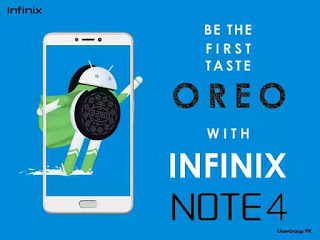 Infinix Note 4 (X572) To receive Android 8 Oreo Update