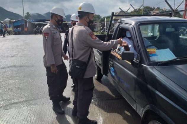 Guna Mencegah Penyebaran Covid-19, Polda Banten Lakukan Patroli di Tempat Objek Vital
