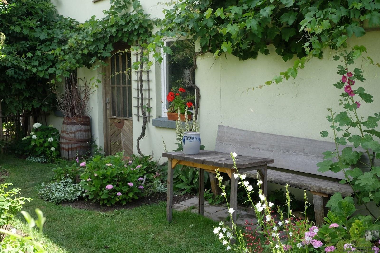 Jardin campestre en Baja Franconia, Baviera