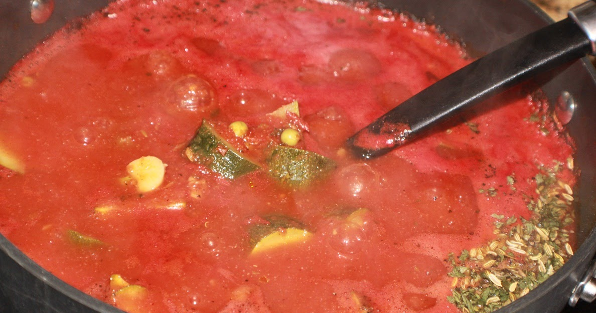 Pasta Sauce From Garden Fresh Whole Tomatoes Using Food Processor