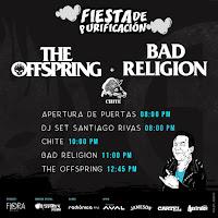 HORARIO Concierto de THE OFFSPRING + BAD RELIGION