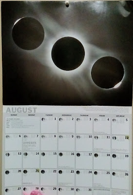 RASC 2017 calendar August with eclipse images