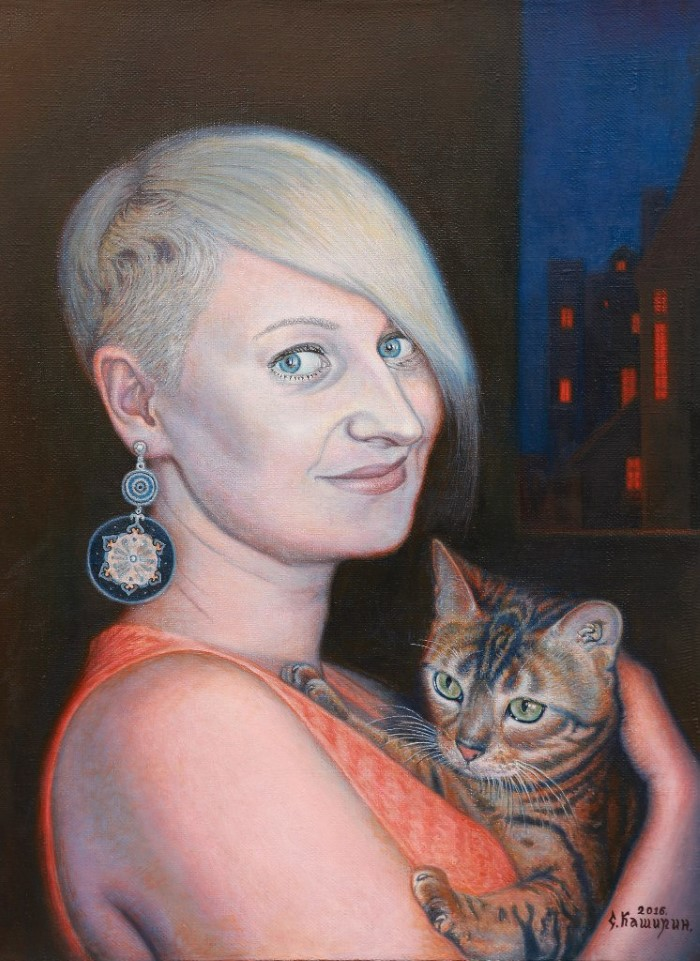 Девушка с кошкой - Степан Каширин