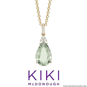 Kiki McDonough candy mini green amethyst and diamond pendant