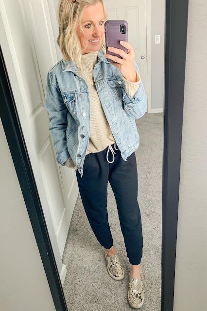 Jogger pants with sweater