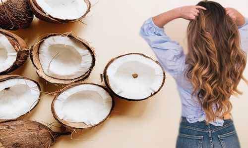 Homemade Coconut Hair Mask For Dry, Damaged and Frizzy Hair