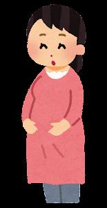 妊婦のお腹が大きくなる段階のイラスト2
