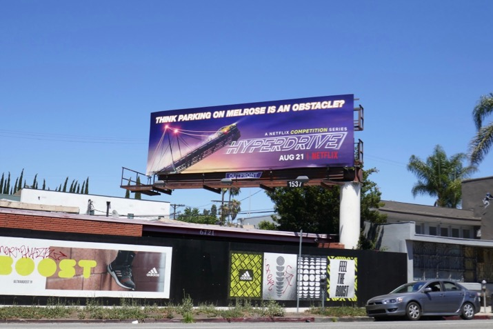 Hyperdrive Netflix series billboard