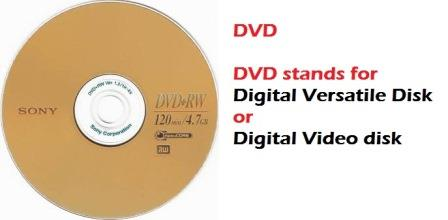 DVD: Digital Versatile Disk or Digital Video disk