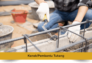 Kenek / Pembantu Tukang