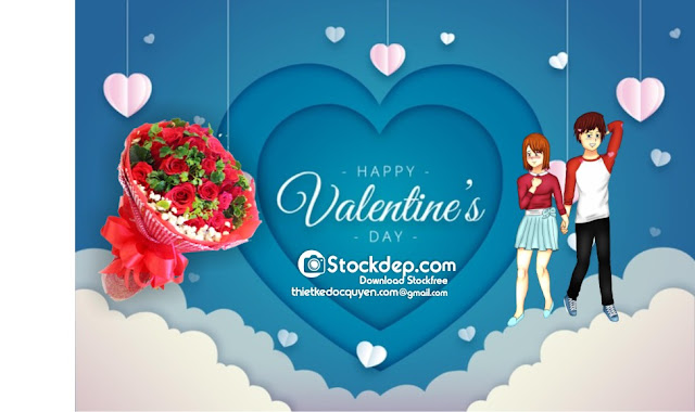 Valentine's day background 14.2 cực chất