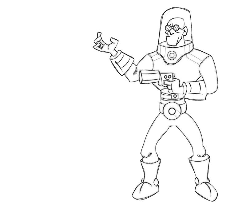 Printable mr freeze strong coloring pages