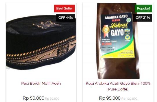 Belanja Online Souvenir Aceh Serba Mudah, Serba Ada, Serba Bisa di MallAceh, peci aceh, kopi aceh