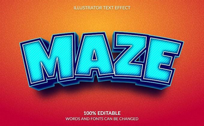 Maze Text Effect Ai