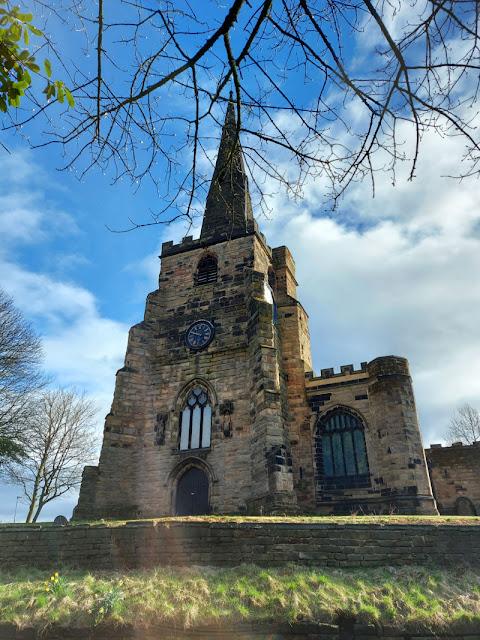 Winwick St Oswald's Church from Newton Road