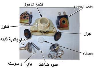 اجزاء صمام دخول الماء في الغسالة الاتوماتيك