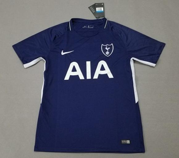 New Tottenham 17-18 Away Dark Blue Soccer Jersey