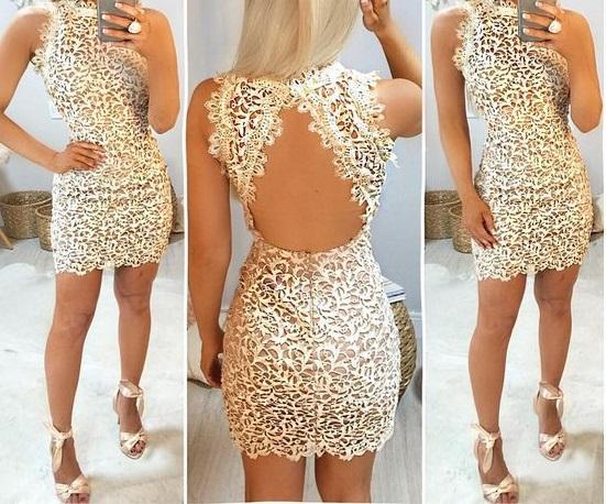 احدث تصميم لفستان سهرة قصير غير محجبات