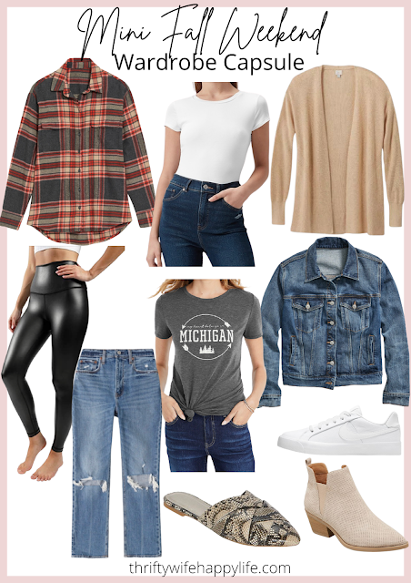 Mini Fall Weekend Wardrobe Capsule- 10 Pieces, 10 Outfits