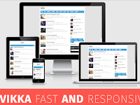 Vikka Fast and Responsive Blogger Templates