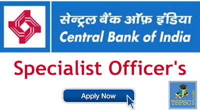Central Bank Of India Notification 2019 for Specialist Officers