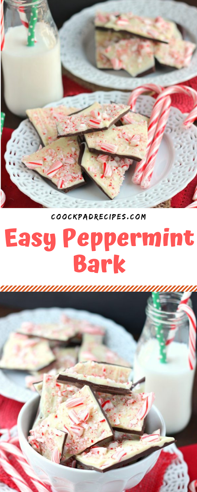 Easy Peppermint Bark  #Christmas #Peppermint