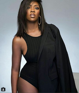 Tiwa Savage Looks Stunning As She Takes To The Street In South Africa