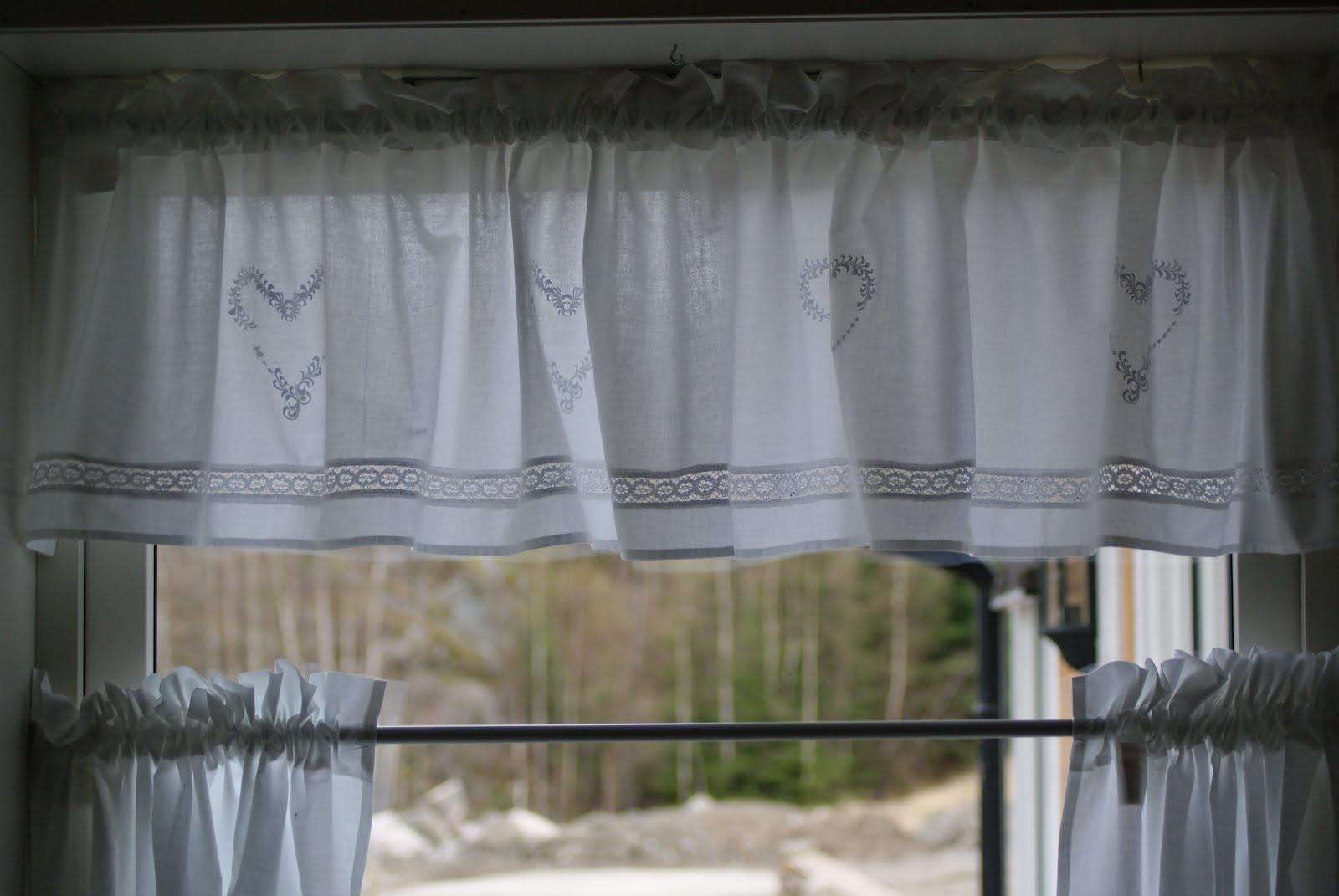 Forskjellige Hobbyvimsa: Cafe gardin på kjøkkenet. GF-18