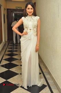 Actress Pragya Jaiswal Stills in Beautiful White Dress at turodu Audio Launch  0044.JPG