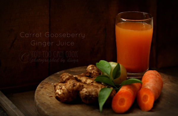 Carrot Gooseberry Ginger Juice