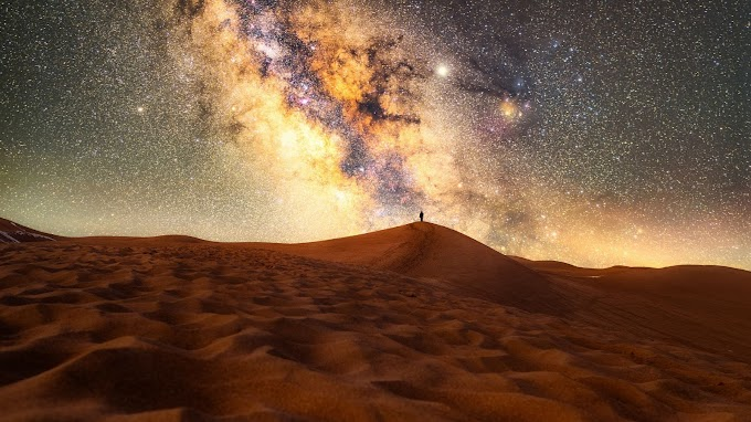 Plano de Fundo Celular Via Láctea Galáxia Deserto