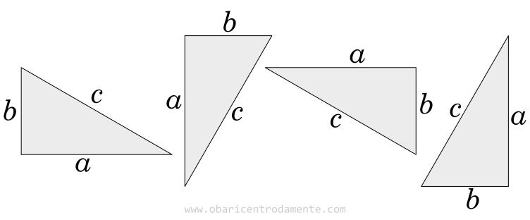 Prova do Teorema de Pitágoras - Triângulos retângulos