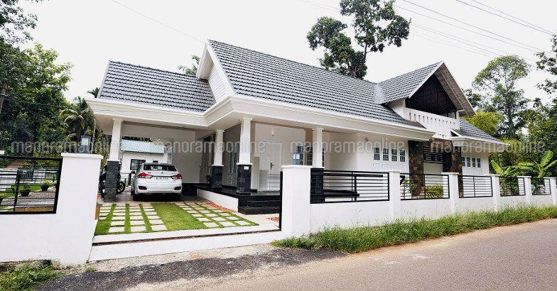 3 bedroom stylish luxury kerala designer home for 43 lakhs for 1900 sq ft house plans kerala