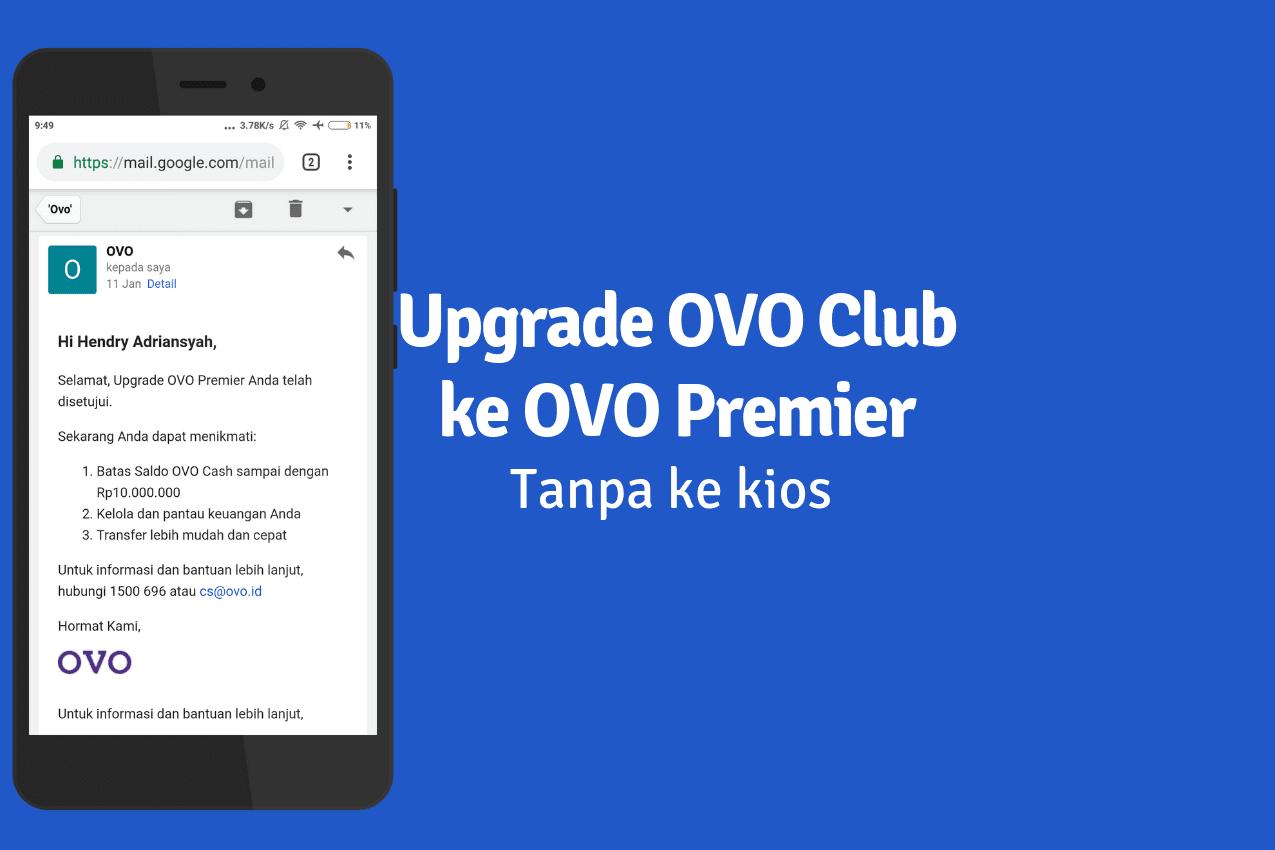 Cara Upgrade OVO Premier Tanpa ke Kios Secara Online