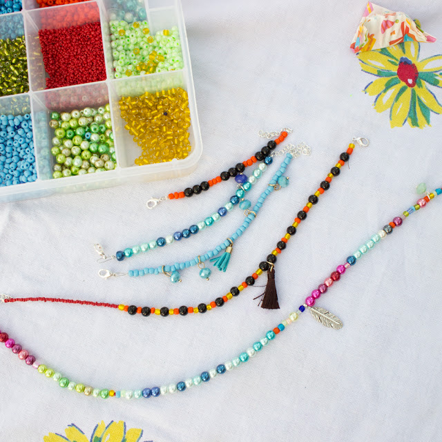 How to make necklaces and bracelets with kids using Dragonfly Designs DIY Jewelry making kits