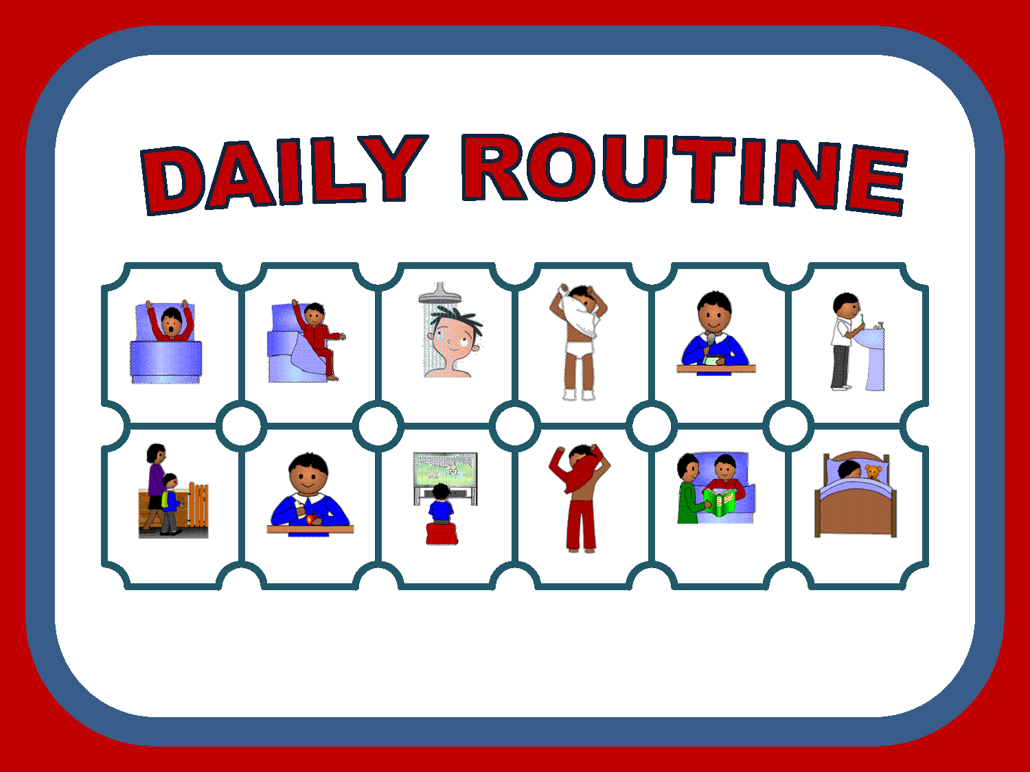 daily routine schedule